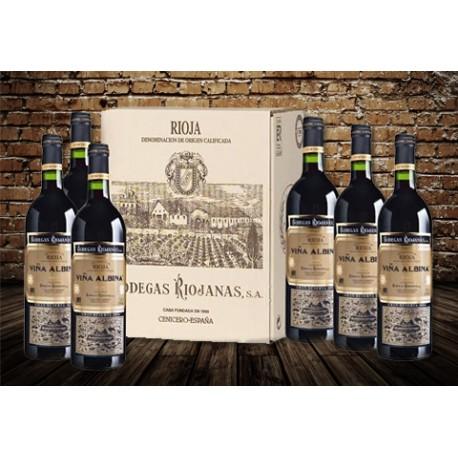 Caja de 6 botellas Viña Albina Gran Reserva 2004 D.O. Rioja