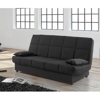 Sofá cama CLICK CLACK semi automatico negro